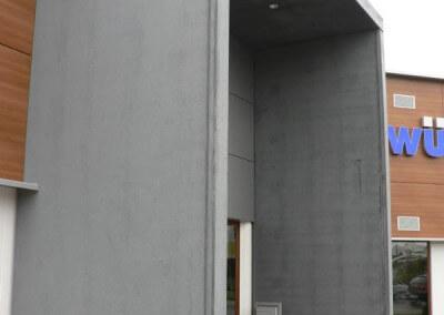 Vertriebsbüro Lang Betonfertigteile - Projekt Schule in Engen Möbelhaus Schwenningen