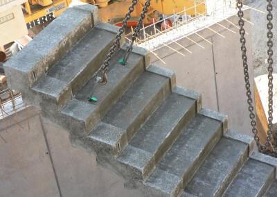 Vertriebsbüro Lang Betonfertigteile - Projekt Betontreppe